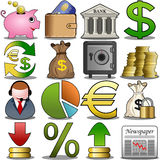 Finance Icon Set. Illustration featuring finance and banking icon set isolated on white background. EPS file is available. Check my portfolio for the complete Royalty Free Stock Photos