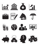 Finance Icon Set. Set of finance related icon set on white background Stock Photo