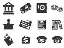 Finance icon set. Finance simply icons for web and user interfaces Royalty Free Stock Photo