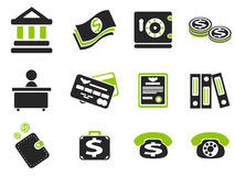 Finance icon set. Finance simply icons for web and user interfaces Stock Image