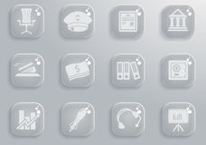 Finance icon set. Finance simply symbol for web icons and user interface Stock Photos
