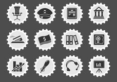 Finance icon set. Finance simply symbol for web icons and user interface Stock Photo