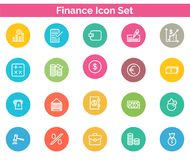 Finance Icon SET Vector illustration. Vector Illustration. Easy TO use 100% vector design and vector file formats. 100% Professional Design Stock Image