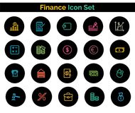 Finance Icon SET Vector illustration. Vector Illustration. Easy TO use 100% vector design and vector file formats. 100% Professional Design Royalty Free Stock Photos
