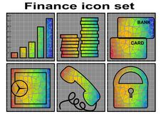 Finance icon Royalty Free Stock Photography