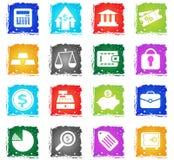 Finance icon set Stock Photography