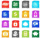 Finance icon set Royalty Free Stock Image