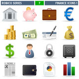 Finance Icons [1] - Robico Series. Collection of 16 colorful finance and money icons, isolated on white background. Robico Series: check my portfolio for the Stock Photo