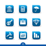 Finance icons 11..smooth series. Set of nine finance web icons from series Stock Photos