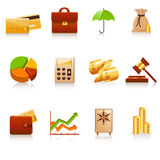 Finance icons. Colorful finance icon set on white background