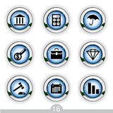 Finance icons. Set of nine finance icons from a series Stock Photo