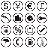 Finance Icons. Set of various finance icons Stock Image