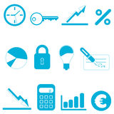 Finance icons. Vector set of finance icons vector Royalty Free Stock Images
