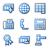 Finance icons 2, blue contour. Vector web icons, blue contour series, V2 Stock Photo
