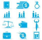 Finance icons. Set of finance icons, illustration Stock Photography