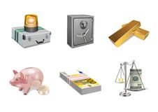 Finance icons Stock Photography