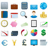 Finance icons. Set of 25 finance or business professional  icons for your website Stock Photography