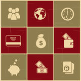 Finance icons. Over colorful background vector illustration Stock Photo