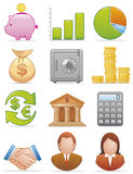 Finance icons. Vector illustration Set of finance icons Royalty Free Stock Photography