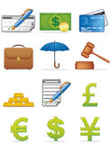 Finance icons Royalty Free Stock Photography