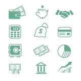 Finance Icons -. Finance business bank set  Icons-  illustration Stock Photos