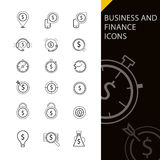 Finance icons Royalty Free Stock Photo