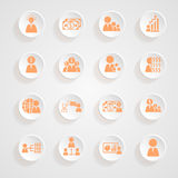 Finance icons button shadows Royalty Free Stock Image