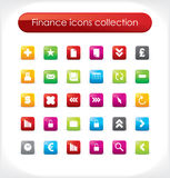 Finance icons collection. Vector. Finance icons collection for your business artwork Royalty Free Stock Photo