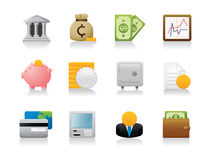 Finance Icons - Detailed Render Stock Photo