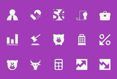 Finance icons | Die Cut series Royalty Free Stock Photos