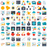 Finance icons. Financial technology and finance icons in flat style Royalty Free Stock Images