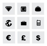 Finance icons. Finandce icons over white background vector illustration Stock Images
