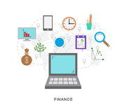 Finance icons. Finanse icons graphic with pointers Stock Photo