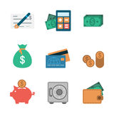 Finance Icons Flat. Editable EPS vector format Stock Images