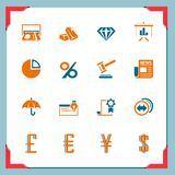 Finance icons | In a frame series Stock Photos