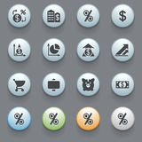 Finance icons on gray background. Stock Images