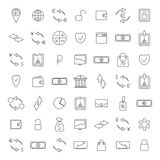 Finance icons,  illustration. Set of forty-nine icons finances of thin lines second part,  illustration Stock Photo