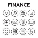 Finance icons line style. Finance icons. Finance icons line style Royalty Free Stock Photography
