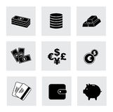 Finance icons. Over white background vector illustration Royalty Free Stock Images