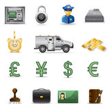 Finance icons. Part 3. Set of finance and banking icons Royalty Free Stock Photos