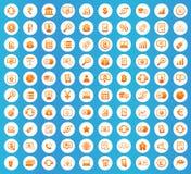 Finance icons round set Stock Photos