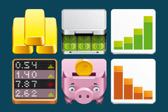 Finance icons. A set of Finance icons Stock Image
