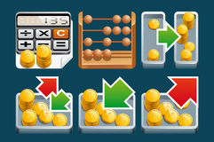 Finance icons. A Set of Finance icons Royalty Free Stock Photography