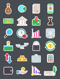 Finance   icons set. Set of 24 Finance   icons Royalty Free Stock Image