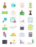 Finance  icons set. Set of 24 finance  icons Stock Photo