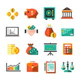 Finance Icons Set Royalty Free Stock Photos