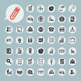 Finance icons Set on blue paper. Eps.10 Stock Images