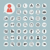 Finance icons Set.2 on blue paper Royalty Free Stock Photos