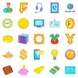 Finance icons set, cartoon style. Finance icons set. Cartoon set of 25 finance vector icons for web isolated on white background Stock Image