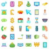 Finance icons set, cartoon style. Finance icons set. Cartoon style of 36 finance vector icons for web isolated on white background Royalty Free Stock Photo